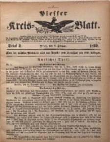 Plesser Kreis-Blatt, 1892, St. 2