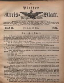 Plesser Kreis-Blatt, 1892, St. 12