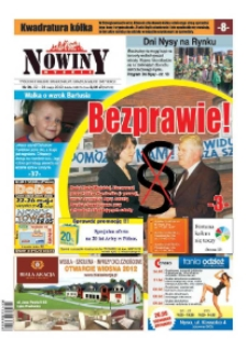 Nowiny Nyskie 2012, nr 21.