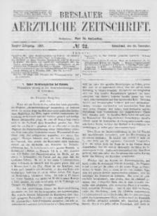 Breslauer Aerztliche Zeitschrift, 1887, Jg. 9, No. 22