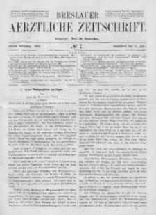 Breslauer Aerztliche Zeitschrift, 1888, Jg. 10, No. 7