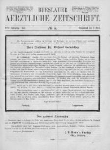Breslauer Aerztliche Zeitschrift, 1889, Jg. 11, No. 5