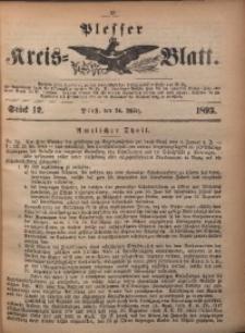Plesser Kreis-Blatt, 1893, St. 12