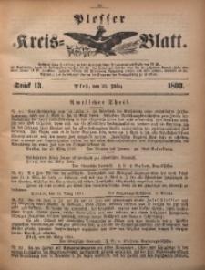 Plesser Kreis-Blatt, 1893, St. 13