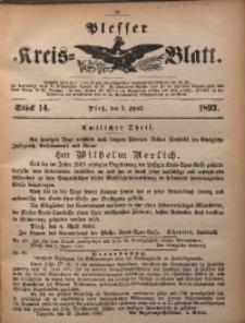 Plesser Kreis-Blatt, 1893, St. 14