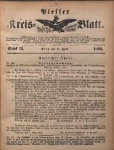 Plesser Kreis-Blatt, 1893, St. 15