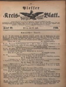 Plesser Kreis-Blatt, 1893, St. 29