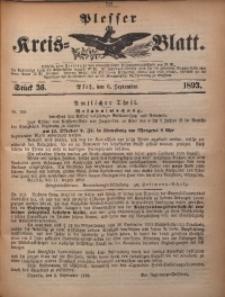 Plesser Kreis-Blatt, 1893, St. 36