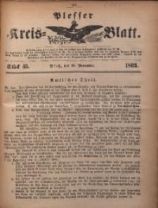 Plesser Kreis-Blatt, 1893, St. 45