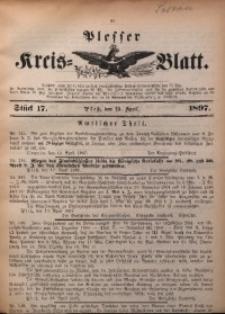 Plesser Kreis-Blatt, 1897, St. 17