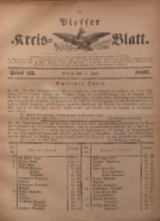 Plesser Kreis-Blatt, 1897, St. 23