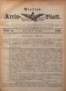 Plesser Kreis-Blatt, 1897, St. 48