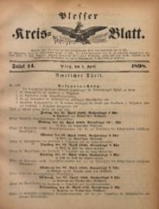 Plesser Kreis-Blatt, 1898, St. 14