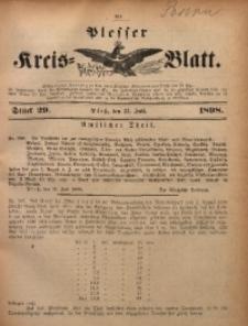 Plesser Kreis-Blatt, 1898, St. 29