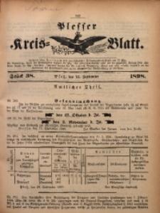 Plesser Kreis-Blatt, 1898, St. 38