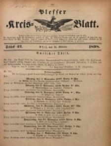 Plesser Kreis-Blatt, 1898, St. 42