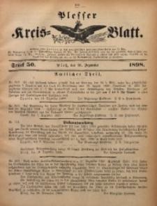 Plesser Kreis-Blatt, 1898, St. 50