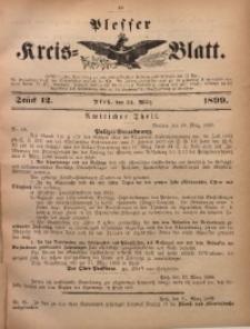 Plesser Kreis-Blatt, 1899, St. 12