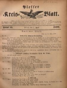 Plesser Kreis-Blatt, 1899, St. 14