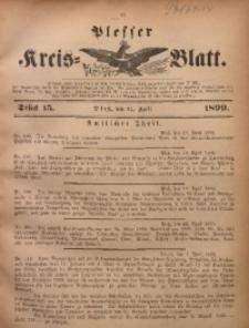 Plesser Kreis-Blatt, 1899, St. 15