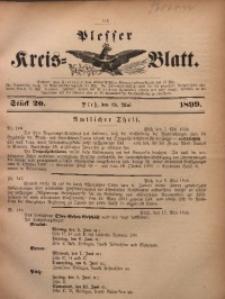 Plesser Kreis-Blatt, 1899, St. 20