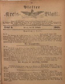 Plesser Kreis-Blatt, 1908, St. 9