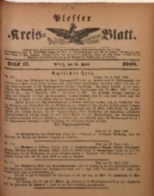 Plesser Kreis-Blatt, 1908, St. 17