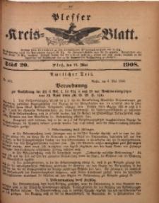 Plesser Kreis-Blatt, 1908, St. 20