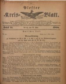 Plesser Kreis-Blatt, 1908, St. 21