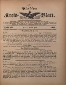 Plesser Kreis-Blatt, 1911, St. 19