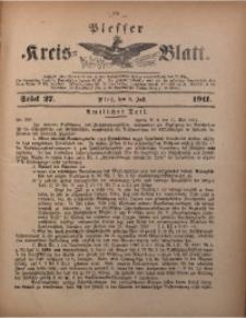Plesser Kreis-Blatt, 1911, St. 27