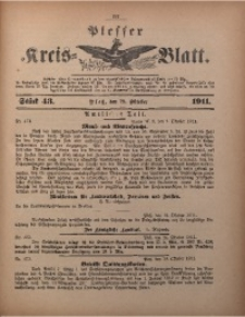 Plesser Kreis-Blatt, 1911, St. 43
