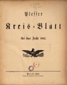 Inhalts-Verzeichnis fürs Kreisblatt 1912