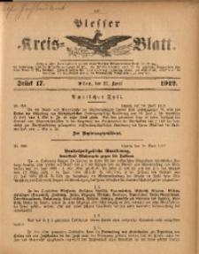 Plesser Kreis-Blatt, 1912, St. 17