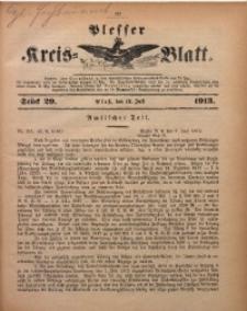 Plesser Kreis-Blatt, 1913, St. 29
