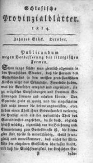 Schlesische Provinzialblätter, 1814, 60. Bd., 10. St.: October