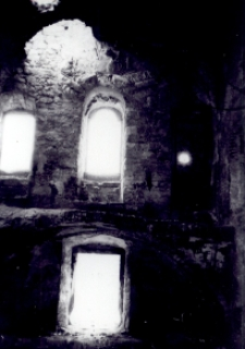 Brzeżany. Widok chóru w kaplicy zamkowej, lata 60. XX w.