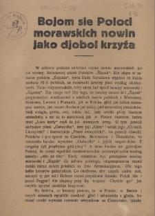 Bojom sie Poloci morawskich nowin jako djobol krzyźa