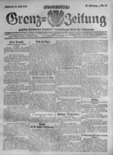 Oberschlesische Grenz-Zeitung, 1920, Jg. 48, Nr. 90