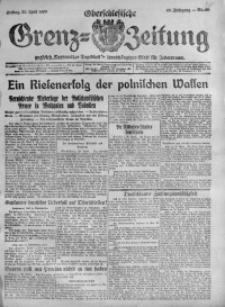 Oberschlesische Grenz-Zeitung, 1920, Jg. 48, Nr. 98