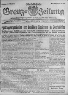 Oberschlesische Grenz-Zeitung, 1920, Jg. 48, Nr. 111