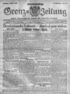 Oberschlesische Grenz-Zeitung, 1920, Jg. 48, Nr. 174