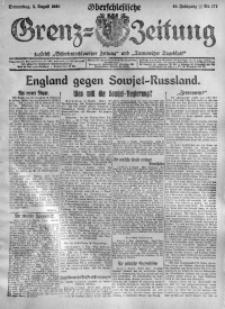 Oberschlesische Grenz-Zeitung, 1920, Jg. 48, Nr. 177
