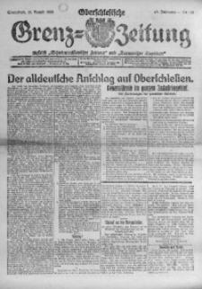 Oberschlesische Grenz-Zeitung, 1920, Jg. 48, Nr. 191
