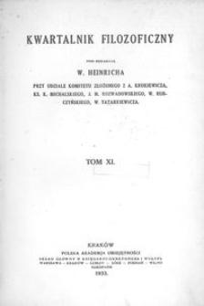 Kwartalnik Filozoficzny. R 11 (1933)