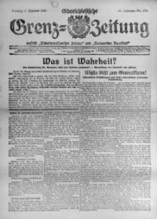 Oberschlesische Grenz-Zeitung, 1920, Jg. 48, Nr. 276