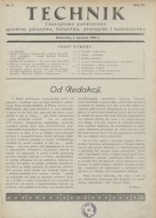 Technik, 1930, R. 3, nr 1