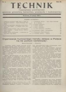 Technik, 1930, R. 3, nr 4