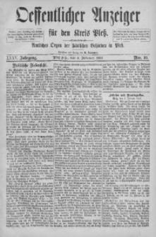 Oeffentlicher Anzeiger für den Kreis Pleß, 1887, Jg. 35, Nro. 10
