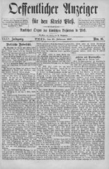 Oeffentlicher Anzeiger für den Kreis Pleß, 1887, Jg. 35, Nro. 16